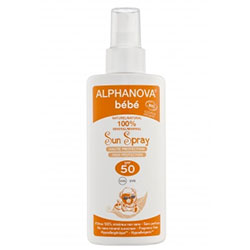 Alphanova Organic Sun Milk Spray BABY SPF 50 125g