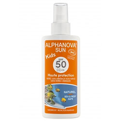 Alphanova Organic Sun Milk Spray KIDS SPF 50 125g