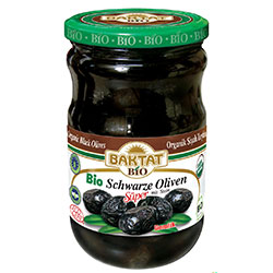 BAKTAT Organic Black Olives (With Pits) 650g