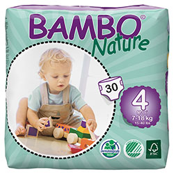 Bambo Nature Baby Diapers Maxi 4 (7-18 kg) 30 Pcs