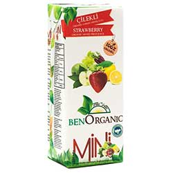 BenOrganic Organic Fruit Juice With Strawberry 200ml