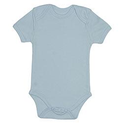 OrganicKid Organic Baby Short Sleeve Bodysuit (Blue, 12-18 Month)