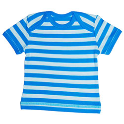 Canboli Organic Baby Long Sleeve Bodysuit(Straipe Dark Blue, 0-3 Month)