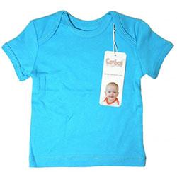 Canboli Organic Baby Short Sleeve T-shirt (Dark Blue, 0-3 Month)
