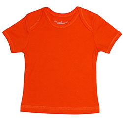 Canboli Organic Baby Short Sleeve T-shirt (Orange, 12-18 Month)