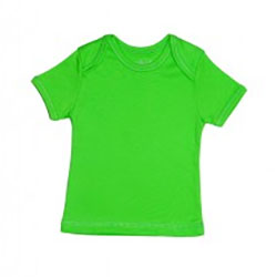 Canboli Organic Baby Short Sleeve T-shirt (Green, 0-3 Month)
