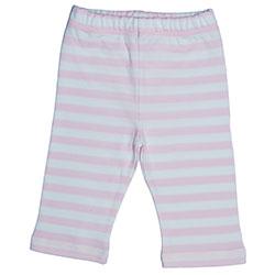 Canboli Organic Baby Pants (Light Pink Straipe, 0-3 Month)