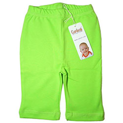 Canboli Organic Baby Pants (Green, 0-3 Month)