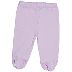 Canboli Organic Baby Footed Pants (Pink, 6-12 Month)