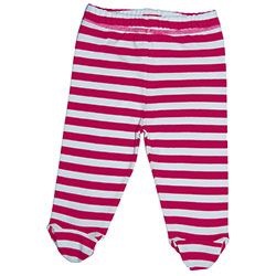 Canboli Organic Baby Footed Pants (Fuchsia Straipe, 6-12 Month)