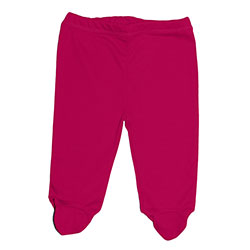Canboli Organic Baby Footed Pants (Fuchsia, 6-12 Month)