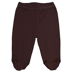Canboli Organic Baby Footed Pants (Brown, 0-3 Month)