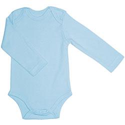Canboli Organic Baby Long Sleeve Bodysuit(Light Blue, 0-3 Month)