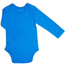 Canboli Organic Baby Long Sleeve Bodysuit(Dark Blue, 0-3 Month)