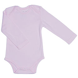 Canboli Organic Baby Long Sleeve Bodysuit(Pink, 12-18 Month)
