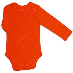 Canboli Organic Baby Long Sleeve Bodysuit (Orange, 12-18 Month)