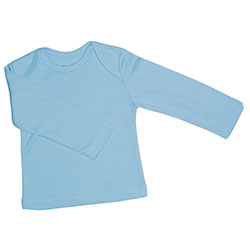 Canboli Organic Baby Long Sleeve T-shirt (Light Blue, 0-3 Month)