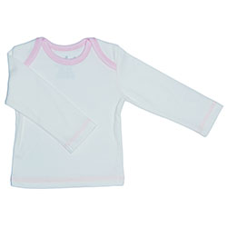 Canboli Organic Baby Long Sleeve T-shirt (Ecru Light Pink, 3-6 Month)