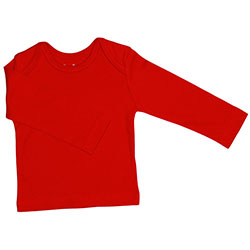 Canboli Organic Baby Long Sleeve T-shirt (Red, 0-3 Month)
