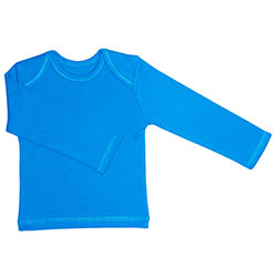 Canboli Organic Baby Long Sleeve T-shirt (Dark Blue, 0-3 Month)