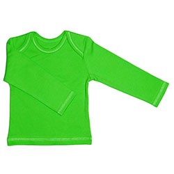 Canboli Organic Baby Long Sleeve T-shirt (Green, 0-3 Month)