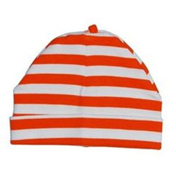 Canboli Organic Baby Hat (Red Straipe, 0-3 Month)