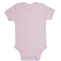 Canboli Organic Baby Short Sleeve Bodysuit (Pink, 0-3 Month)