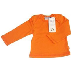 Canboli Organic Baby Long Sleeve T-shirt (Orange Straipe, 0-3 Month)