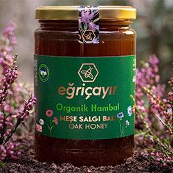 Eğriçayır Organic Oak Honey 850g