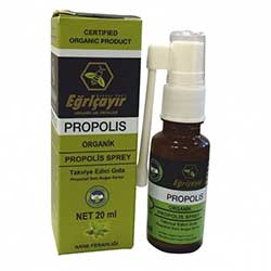 Eğriçayır Organic Throat Spray With Propolis (Mint) 20ml