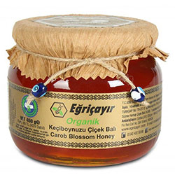 Eğriçayır Organic Carob Blossom Honey 450g