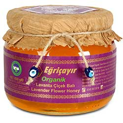 Eğriçayır Organic Lavender Flower Honey 450g