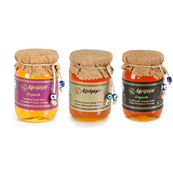 Eğriçayır Organic 3 Honey Set (Flower + Lavender + Carob) 3x225gr