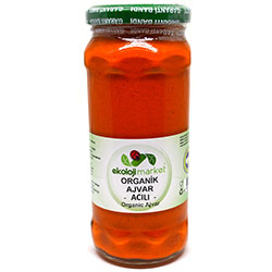 Ekoloji Market Organic Paprika Vegetable Relish HOT 250g
