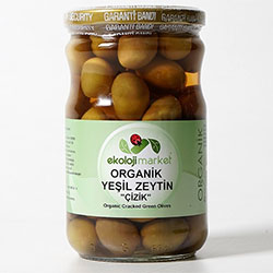 Ekoloji Market Organic Green Olive (Score Brined) 300g