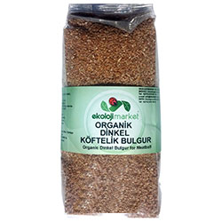 Ekoloji Market Organic Spelt (Dinkel) Dark Fine Bulghur 500g