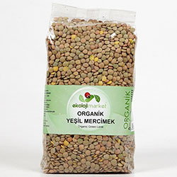 Ekoloji Market Organic Green Lentil 1Kg