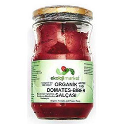 Ekoloji Market Organic Tomato - Paprika Paste (Saltless) 660g