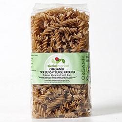 Ekoloji Market Organic Pasta (Fusilli, Whole Wheat) 300g