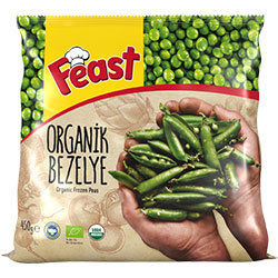 Feast Organic Frozen Peas 450g
