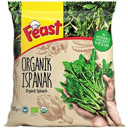 Feast Organic Frozen Spinach 450g