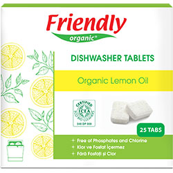 Friendly Organic Dishwasher Tabs (With Lemon Oil) 25 Tablets