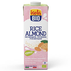 ISOLA BIO Organic and Gluten-Free Almond & Rice Milk 1L