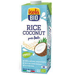 ISOLA BIO Organic and Gluten-Free Coconut & Rice Milk (Rice Coco) 1L