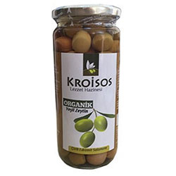 Kroisos Organic Green Olive (Score Brined) 300g