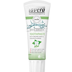 Lavera Organic Basis Sensitiv Toothpaste (Mint & Fluoride) 75ml