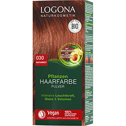 Logona Organic Herbal Hair Colour Powder (030 Natural  Red)