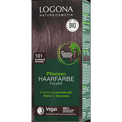 Logona Organic Herbal Hair Colour Powder (101 Black Intense)