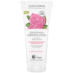 Logona Organic Body Lotion (Damaszener Rose & Sheabutter) 200ml
