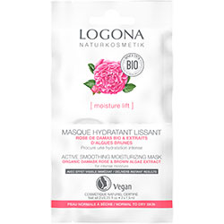 Logona Organic Active Smoothing Moisturing Mask (Rose & Kalpariane) 2x7,5ml